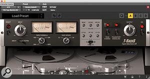 IK Multimedia's T‑Racks TR5 tape simulator was deployed across the guitar bus.