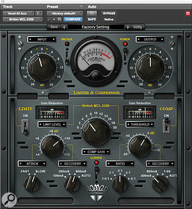 Nomad Factory's MCL-2269 Limiter & Compressor was used to warm up the beat, along with RN Digital's unusual Detailer plug-in.