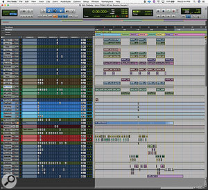 This composite screen capture shows the entire mix session for 'Intro'.
