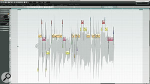 """For demonstration purposes only"": This single phrase from Katy Perry shows the inbuilt vocal processing tools in Nuendo, which Vee makes extensive use of on other mixes."