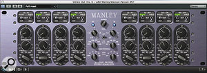 Sandy Vee's master bus processing consisted of UA's Manley Massive Passive and Waves' API 560 equalisers, PSP's Vintage Warmer harmonic generator and Sonnox's Oxford Limiter.