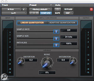 Like many mix engineers, Andrew Scheps employs Avid's Lo-Fi plug-in to add grit where needed.