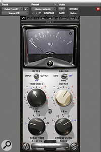 Waves' Kramer PIE compressor helped to craft an interesting room-mic sound for the drums on 'Chocolate'.