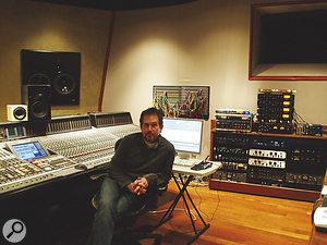Justin Niebank, in his own room at Nashville's Blackbird Studios.