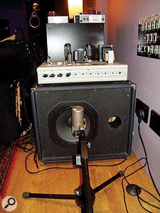 John Paul Jones' bass parts were re-amped through Alan Moulder's custom Audio Kitchen bass amp, miked with aNeumann U47 FET.