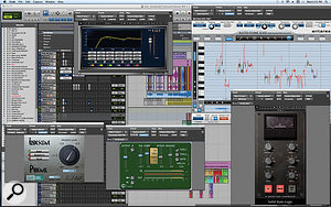 The plug-in chain for Kimbra's vocal section employed many of the same plug-ins as for Gotye's, but with the addition of an SSL bus compressor.