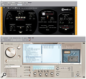 Apart from delay (top), reverb and EQ (bottom), most of the vocal treatment was handled using hardware.