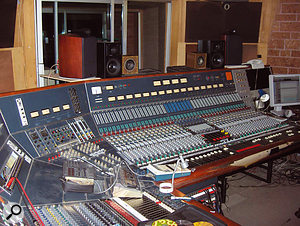The Neve A646 desk at Studio La Frette, where most of the tracking for The Reminder took place.