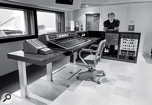 Another view of the Fairfax control room, showing the Scully remote (front) and the minimal outboard rack (right).