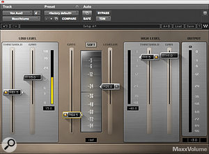 Waves' MaxxVolume was used as avocal limiter.