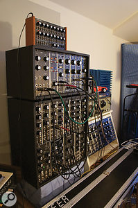 Rob's MU Modular synth helped to generate several essential components of the eventual programme, including an epic filter sweep linking the first and second sections.