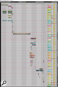 Rob's finished arrangement in Ableton Live.