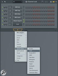 The Channel Rack is where you assemble your collection of sound sources for the project and edit any step‑sequencer patterns you wish to create.