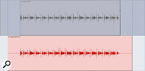 The conga part was routed through a Tech 21 Comptortion pedal, before being re-recorded back into <em>Pro Tools</em>.
