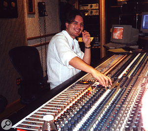 Mark Endert at the SSL desk in Scream Studios.