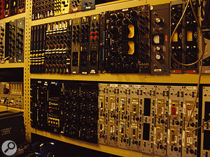 A selection of Blackbird's vast array of outboard equipment.