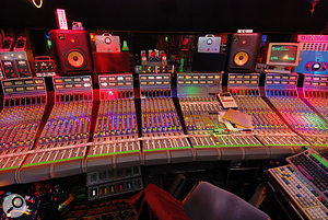 JJ Puig's mix rooom is based around a  rare, highly modified Focusrite desk.