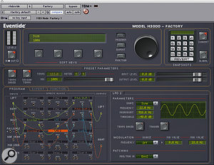 Eventide's H3000 Factory plug–in was used to make the mono Rhodes track wider.