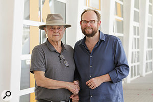 Ben Houge (right) with John Chowning.