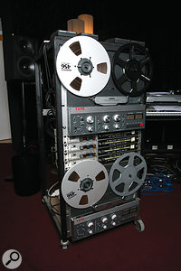 """Two Revox B77 tape machines used for delays were, says Jarre, responsible for """"40 to 50 percent"""" of the sound of the re–recorded <em>Oxygene</em>."""
