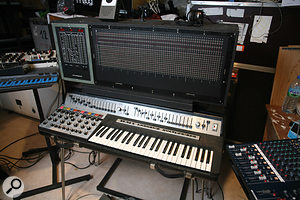 One of the most unusual synths in Jarre's collection is the RMI Harmonic Synthesizer, an early additive synth. On top of it is an even rarer device: the Digisequencer matrix sequencer custom–built by Michel Geiss to Jarre's specification.