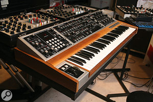 Classic polysynths such as the Memorymoog (top) and Yamaha CS80 were also used in the performance of <em>Oxygene</em>.