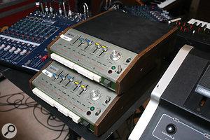 Two Keio Mini Pops drum machines provided an authentically retro rhythm track.