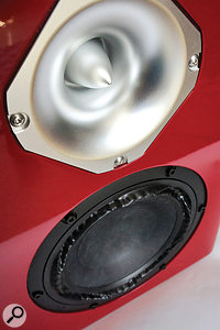 The Baby Reds employ a 6.5-inch Purifi driver for the low end, and an Italian-made Faital tweeter for the highs.