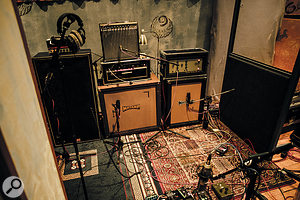 To thicken the sound and provide options at the mix, Jolyon Thomas recorded the guitars through up to five amps simultaneously.
