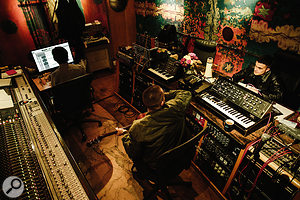 Rather than overdub multiple guitar parts, the band and producer often chose to add synth parts instead.