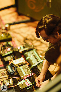 Vast numbers of effect pedals were pressed into service during the making of the album.