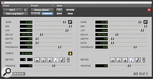 Rihanna's vocal tracks were treated with a simple quarter-note delay from the Mod Delay II plug-in that is bundled with Pro Tools.