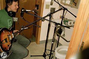 Never was a  studio more aptly named: recording in the bathroom at The Magic Closet.