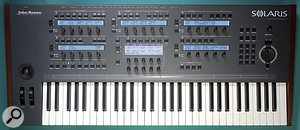 The Solaris is a substantial synthesizer and measures 98 x 42.5 x 15cm.