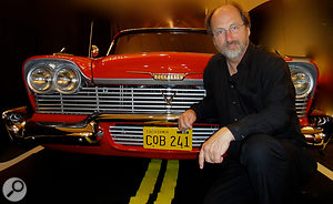 Alan Howarth in 2014 with the car that stars in Christine.