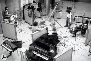 Another view of the BB King sessions, with an engineers' conference taking place at the piano.