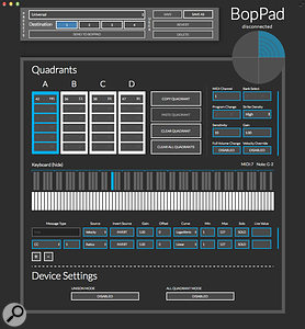 The BopPad editor software.