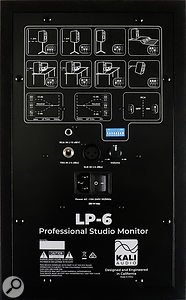 A row of DIP switches lets you tailor the LP6's response to their placement in your room, and setup is aided by a series of diagrams showing typical usage scenarios.