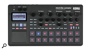 The Electribe Sampler is black rather than grey, but otherwise it looks identical to the Electribe 2.