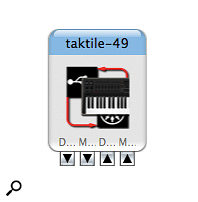 OS X's Audio MIDI Setup application reveals the multi‑port nature of the Taktiles' MIDI implementation.