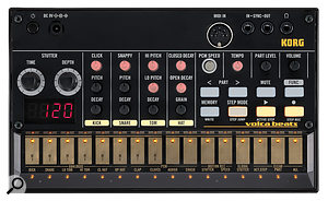 The Volca Beats, like its siblings, measures just 193 x 115 x 46 mm.