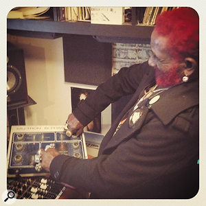 Lee 'Scratch' Perry enjoys reacquainting himself with the Mu-tron Bi-phase!