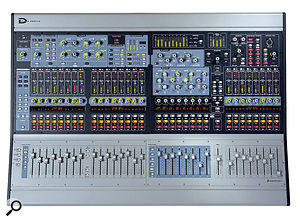 The Avid Venue Profile system allows plug-in emulations of classic effects on every channel, as well as full recall of sessions. Controls include many distinctive, mushroom-shaped encoders!