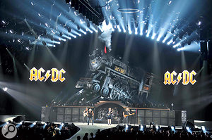 Mixing AC/DC is quite a different task to mixing Paul McCartney. Pab has to deal with an extremely loud backline and some very loud monitoring too.