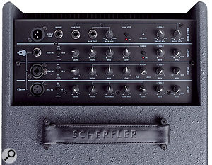The Unico's controls are laid out in a logical manner, split into four channels: three inputs and amaster.