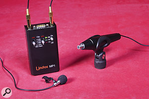 The mics themselves are extremely small, but the kit includes two dummy 'bodies' and clips allowing them to be mounted on stands, as well as accessories for use as lavalier mics.