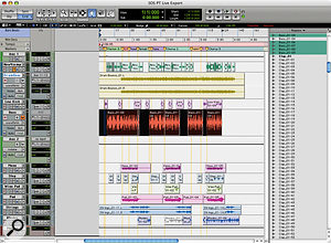 In this Pro Tools session the bass track is selected in preparation for export to Live.