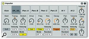 Impulse Drum Machine In Ableton Live