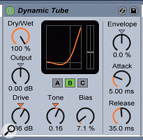 Just a little Drive from Live's Dynamic Tube will add realism to your rig.