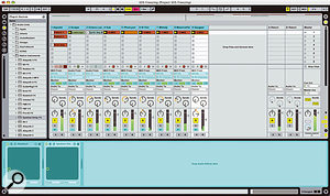 This synth-heavy project dropped from 62 percent to nine percent CPU load after all tracks were frozen.